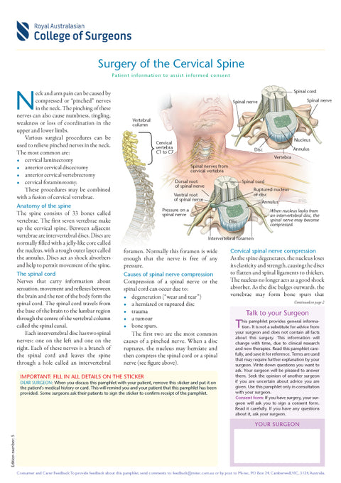 Surgery of the Cervical Spine
