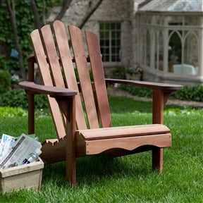 Ergonomic Adirondack Red Shorea Chair