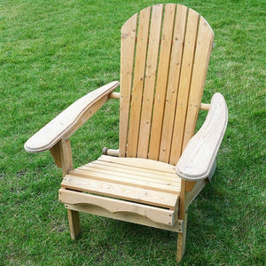 Adirondack All Weather Natural Finish Foldable Chair