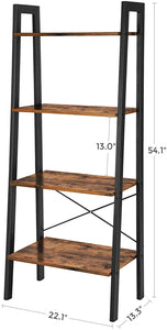 Wood & Iron Step Bookshelf