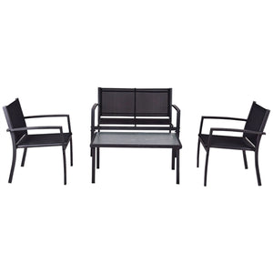 4-Piece Furniture Set with Sling Chairs