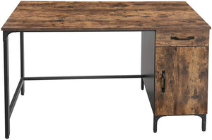 Wood & Iron Desk with Cabinet