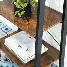 Load image into Gallery viewer, Wood & Iron Step Bookshelf