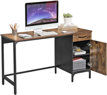 Load image into Gallery viewer, Wood & Iron Desk with Cabinet