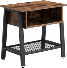 Load image into Gallery viewer, Wood & Iron Industrial Night Stand