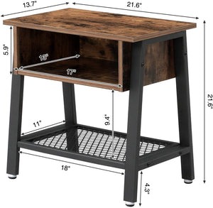 Wood & Iron Industrial Night Stand