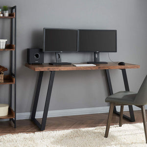 Industrial Wood Slab Desk