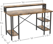 Load image into Gallery viewer, Wood & Iron Industrial Computer Desk