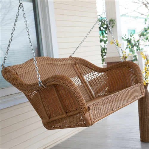 All Weather Wicker Porch Swing