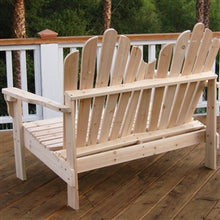 Load image into Gallery viewer, Adirondack Outdoor Cedar Wood Bench