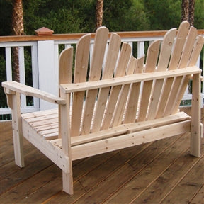 Adirondack Outdoor Cedar Wood Bench