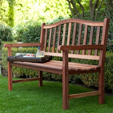 Load image into Gallery viewer, Garden Natural Wooden Bench with Curved Back