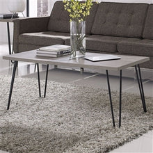 Load image into Gallery viewer, Modern Classic Vintage Style Coffee Table with Wood Top and Metal Legs