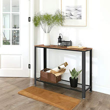 Load image into Gallery viewer, Wood & Iron Console Table