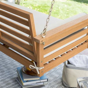 Wood Porch Swing with Bed