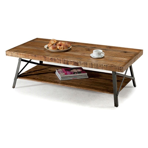 Industrial Modern Classic Reclaimed Wood and Metal Coffee Table