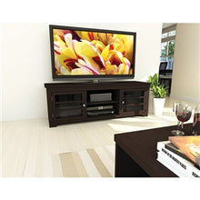 Load image into Gallery viewer, Dark Espresso TV Stand with Glass Doors - Fits up to 68-inch TV