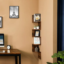 Load image into Gallery viewer, Wood & Iron Corner Bookshelf