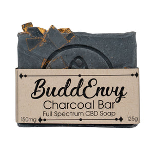 BuddEnvy | Limited Edition Gold Flaked CBD Charcoal Soap Bar