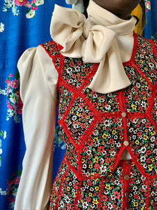 1970s Floral Patchwork Mini-Suit