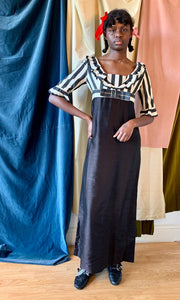 1940's / 1950's Raw Silk Empire Line Dress
