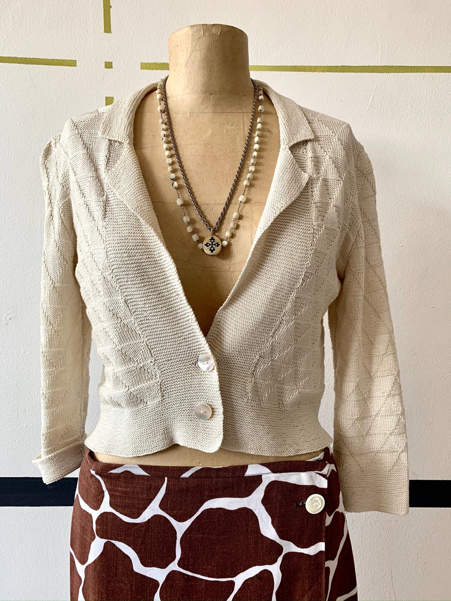 Marion Foale Cropped Cardigan