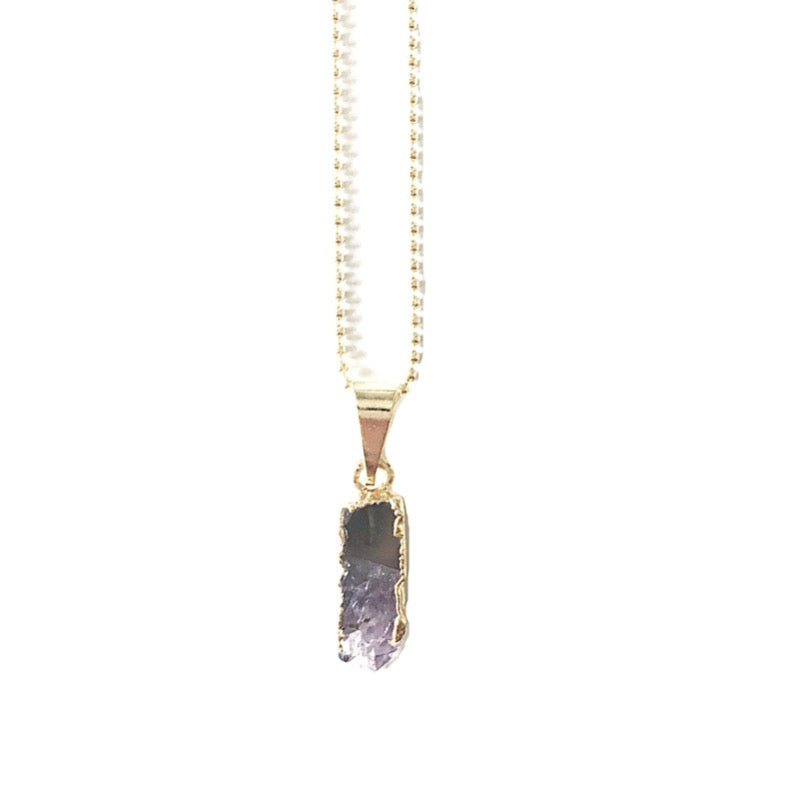 Arwen - vergoldete Amethyst Halskette Crystal and Sage Jewelry