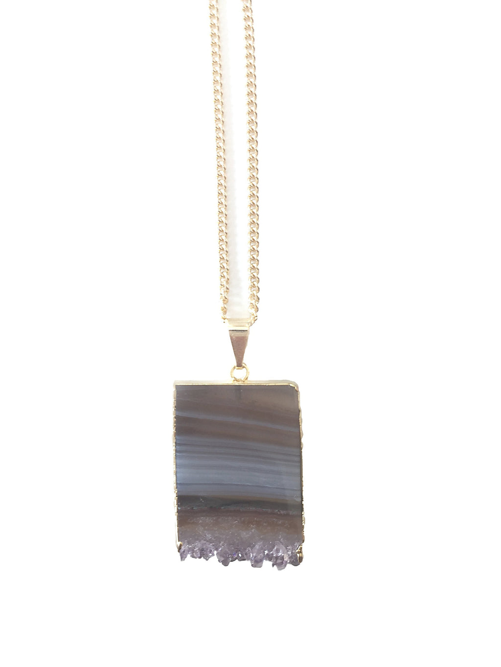 Ayana - vergoldete Amethyst Halskette Crystal and Sage Jewelry