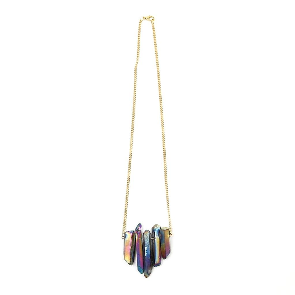 Vibrant  Regenbogenquarz Collier Crystal and Sage Jewelry