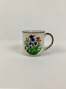 Hand-Painted Wildflower Mugs- Made in Japan