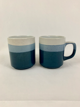 Load image into Gallery viewer, Blue Ombré Ceramic Mug Set