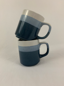 Blue Ombré Ceramic Mug Set