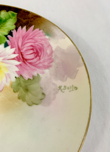 Hand Painted Floral Plate by Nippon