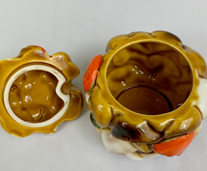 Mushroom Sugar Bowl with Lid