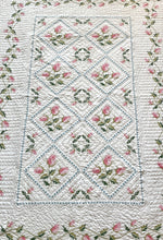 Load image into Gallery viewer, Embroidered Roses Twin Quilt