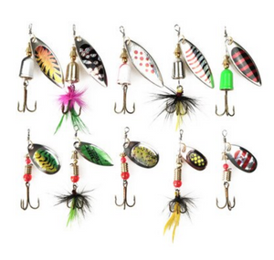 10pcs/lot Kingfisher Aluminium Spoon Lures