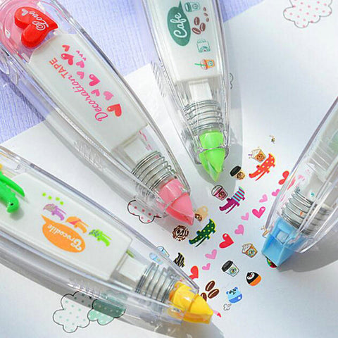 1 Piece Kawaii Animals Press Type Decorative Correction Tape For Student Children's Diary School Stationery
