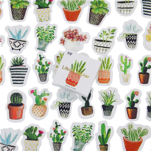 45 Pcs/lot Cute Plant Cactus Mini Paper Sticker Decoration DIY Ablum Diary Scrapbooking Label Sticker Kawaii Stationery