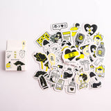 40 Pcs/Pack Kawaii Flowers Pattern Decoracion Diary Christmas Stickers Scrapbooking Stationery Sticker Student Supplies