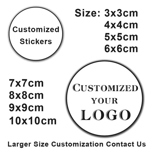100PCS 3-10cm Custom LOGO Wedding Sticker Personalized Design Your Label Candy Gift Box Birthday Party Seal Sticker Self-adhesiv