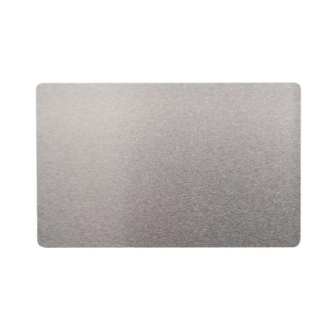 100Pcs 0.2mm Ultra-thin Aluminum Business Card Aluminum Alloy Card Laser Marking Engraving Business Access Business Card Blank