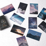28 Sheets/Set Wandering Stars Lomo Card Starry Sky Mini Postcard Message Card Christmas Gifts