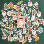 Mohamm 45PCS Christmas Series Kawaii Cute Cartoon Greetings Handbook Decoration Sticker Scrapbooking Girl School Supplies Statio