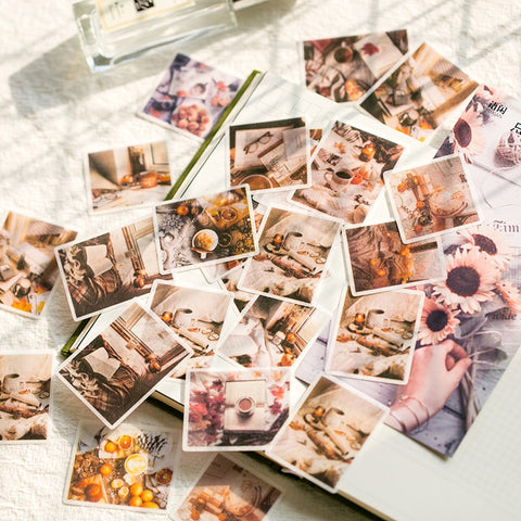 60 Pcs/lot Kawaii Stickers Vintage INS Photo Stickers for Srapbooking Decoration Bullet Journal Stationery Stickers Girls Gift