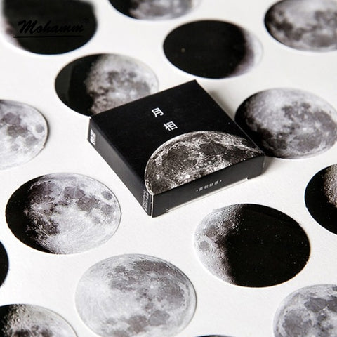 45 Pcs/box Cute Creative Moon Mini Paper Sticker Decoration Diy Ablum Diary Scrapbooking Label Sticker Stationery School Supply