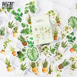 45 pcs/pack Green Oxygen Life Bullet Journal Decorative Stationery Stickers Scrapbooking DIY Diary Album Stick Label
