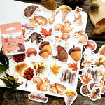 46 Pcs/Pack Autumn forest animals Decoration Adhesive Stickers DIY Cartoon Stickers Diary Sticker Scrapbook Stationery Stickers