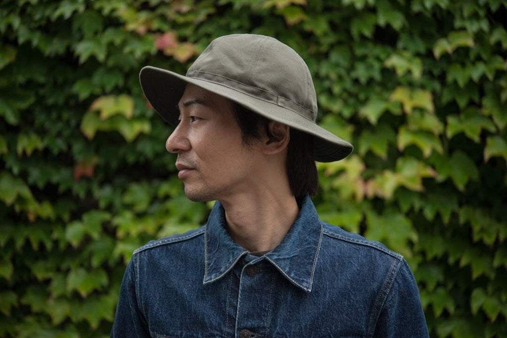 30's Hat Olive Chino/ One-Wash