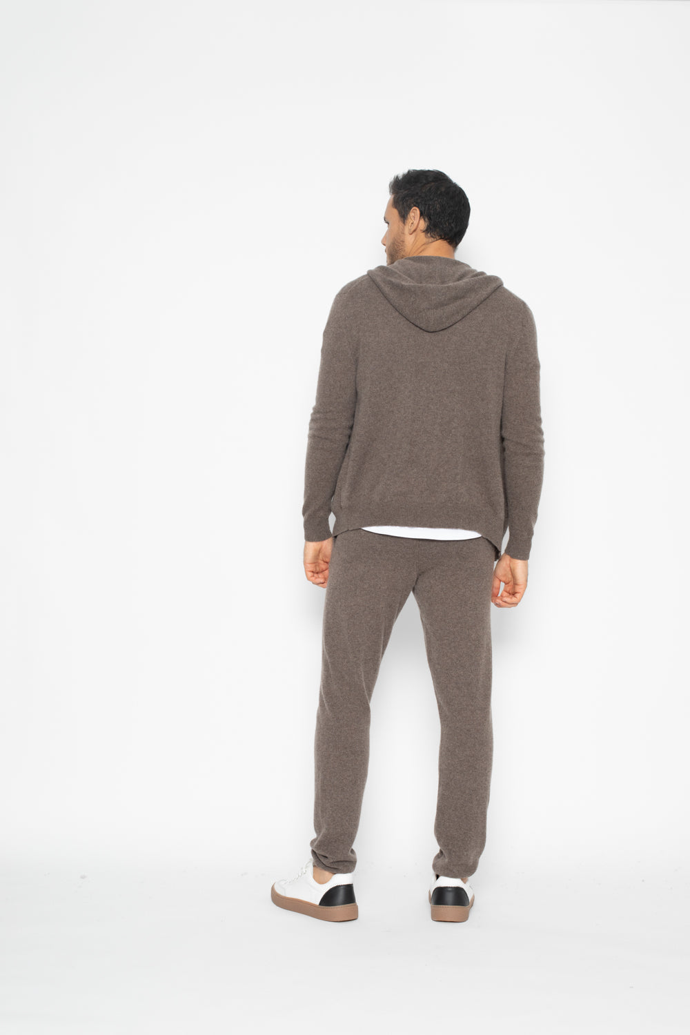 Hoodie neurre Taupe 100% Cachemire