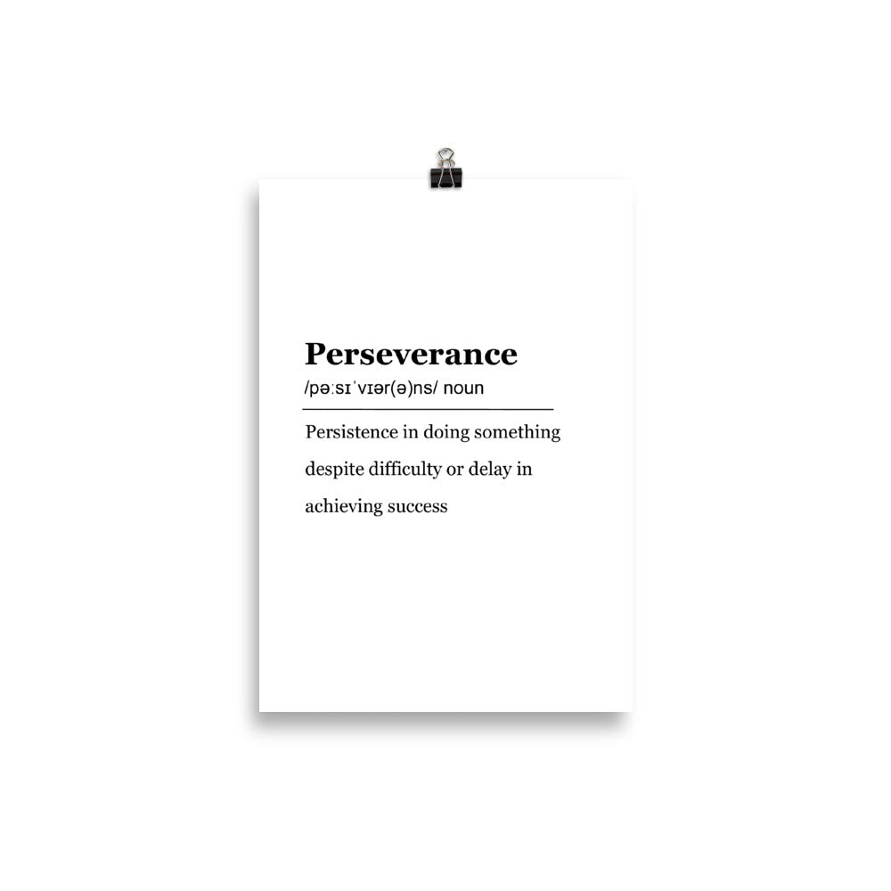 Perseverance - Insposters